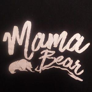 Womens Graphic Tee Mama Bear 2XL
